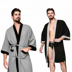 Men All-cotton Skin-friendly Night Gown, Bathrobe, Sweat Sauna Towel for Beauty Salon and Spa Hotel