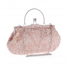 Classic Beads Dinner Bag with Matching Cheongsam, Moonlight Embroidery Cocktail Bag For the Bride, Bridesmaid