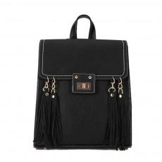 Tassels Handbags College School Bag, Large Capacity Backpack Vintage Casual Flap PU Leather Shoulder Bag