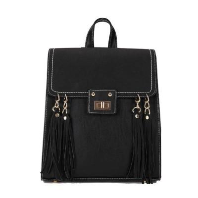Tassels Handbags College School Bag Large Capacity Backpack Vintage Casual Flap PU Leather Shoulder Bag