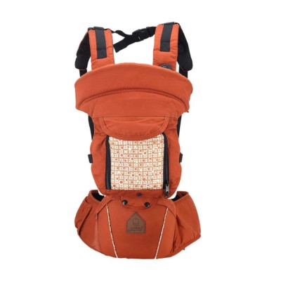 Multifunctional Children Back Bag Waist Stool, Shock-proof & Pressure-reducing Baby Carrier with Breathable Hip Seat for Four Seasons General