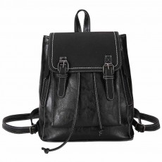 Retro Backpack with Casual Buckle Flap, PU Leather Shoulder Bag Fashion Accessories College School Bag, Gifts for Women, Girls