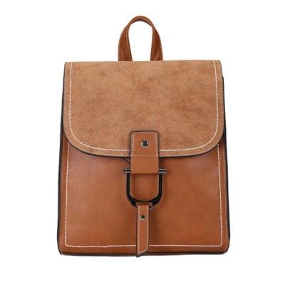 Backpack & Shoulder Bag Vintage Casual Flap PU Leather Bag Set, Large Capacity magnetic Handbags College School Bag With Shoulder Bag