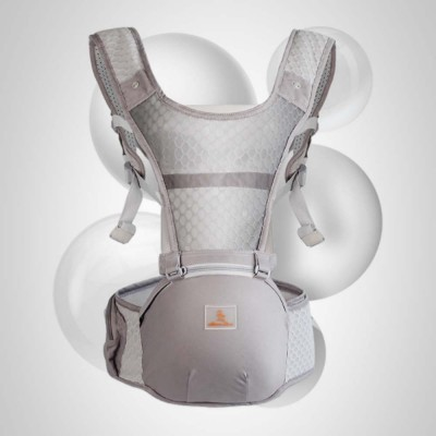 Breathable & Soft Baby Carrier with All-in-one Chew Towel, Multiple Functional Baby Lab for Newborn, Infant Toddler in Summer
