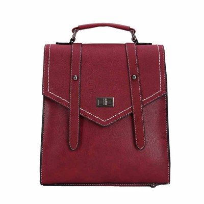Flip PU Leather Backpack Rucksack Bag Fashion Accessories Large Capacity Handbags College School Bag