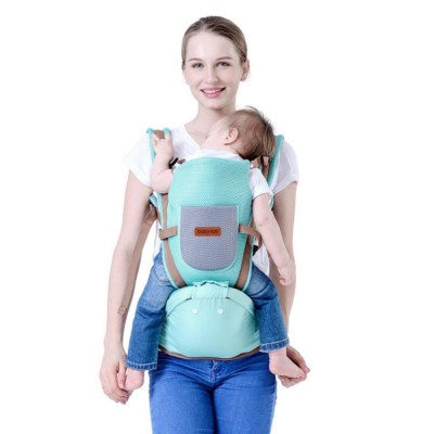 Baby Carriers Front And Back Newborn, Breathable Multifunctional Baby lab with 3D breathable Mesh Cloth and Large Waist Stool for Baby