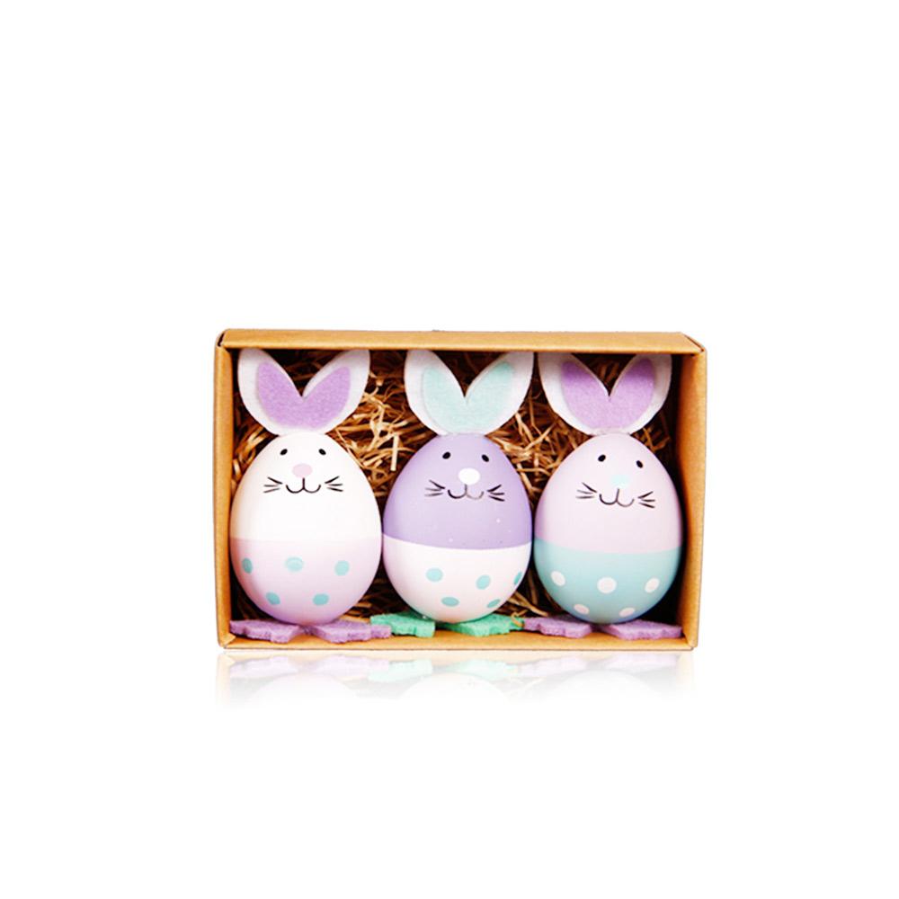 Plastic Easter Eggs, Pink Yellow Green & Purple White Green Rabbit Easter Eggs