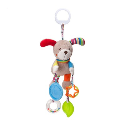 Infant Baby Rattle Hanging Toys, Baby Cartoon Animals Pendant Plush Wind Chime Toys