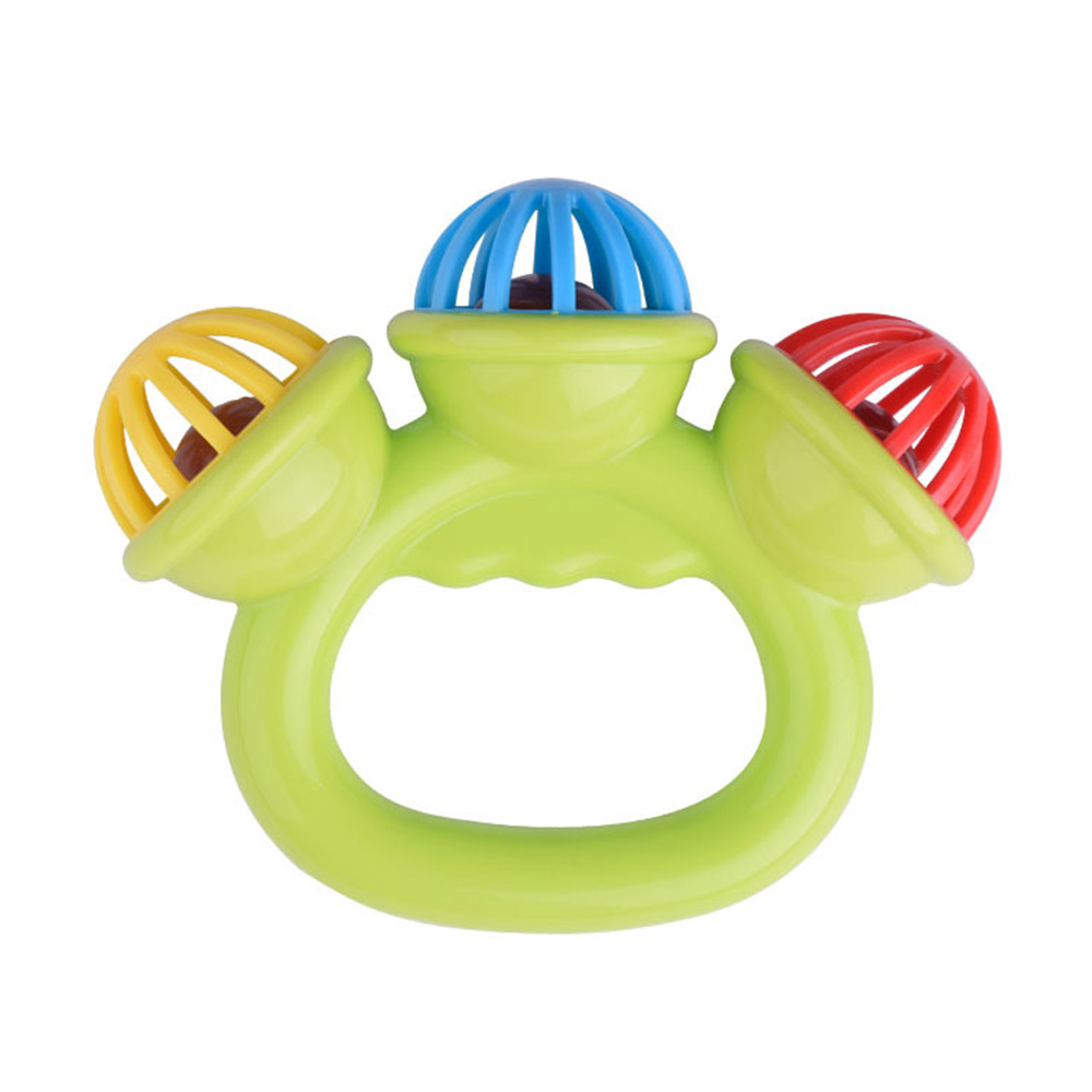 3 Big Bells Baby Early Education Toy, Hand Shake Bell Ring Baby Rattles Toys, Newborn Toddler Rattle Toys