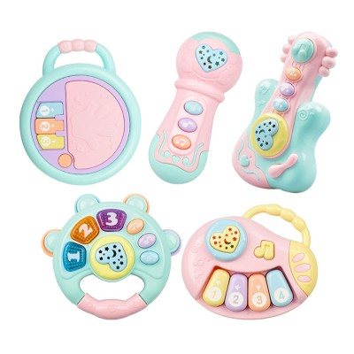 Baby Hand Bell Toys, Musical Instruments Early Education Machine, Projection Music Story Machine for Infants and Toddler