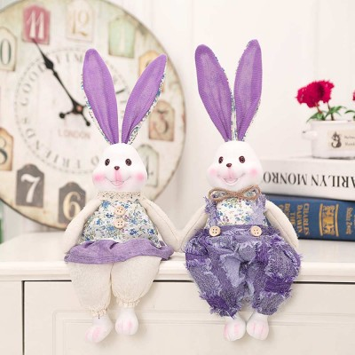 Resin Rabbit Doll Ornaments, Easter Bunny Ornaments Creative Gift for Birthday Wedding Household Decoration