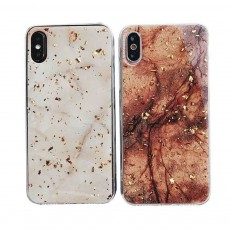 Unique Marbling Phone Case for iPhone 6/6S/6P/6SP/7/8/7P/8P/XS, Luxurious Gold Foil Soft Phone Back Cover, 4.7-6 inch