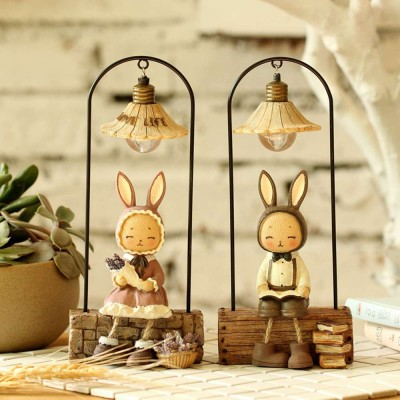 Creative Jenny Rabbit Toy Night Light, Decorative Table Lamp Birthday Gifts for Kids Baby Girls Boys