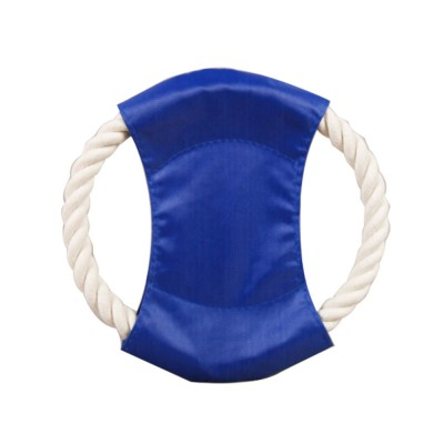 Pet Cotton Rope Woven Green Color Matching Golden Hair Dog Molar Frisbee For Training Interactively