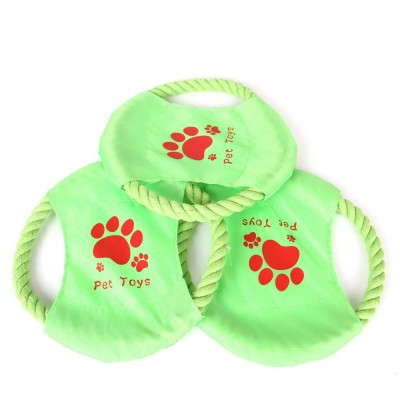 Big Dog Cotton Rope Toy Pet Frisbee, Wear-resistant for Pet Interaction Training Molars Outdoors