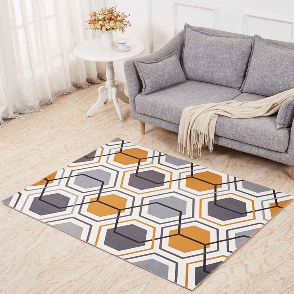 Non-slip Rugs, 3D Geometric Carpet, Modern Floor Mat for Living Room, Bedroom