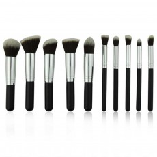 10 PCS Makeup Brushes Set, Multifunctional Wooden Handle with Thickened Aluminum Tube,  Cosmetic Tools for Women