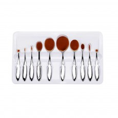 Rose Gold Makeup Brushes Set, Multifunctional Brushes with toothbrush Shape, Cosmetic Tools for Women