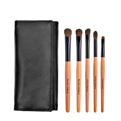 Portable Eyeshadow Brush with Leather Cosmetic Bag, Eyes Makeup Brushes for women, Cosmetic Tool