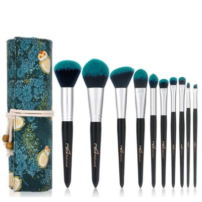 Fireflies Makeup Brushes Set with Reactive Dyed Cloth Bag, Makeup Brushes for Women, Cosmetic Tool, 10PCS