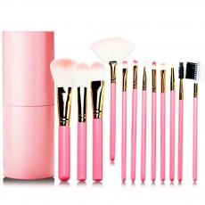 Practical Makeup Brush Set With Brush Barrels, 12 PCS Eye Makeup Brushes Set For Women