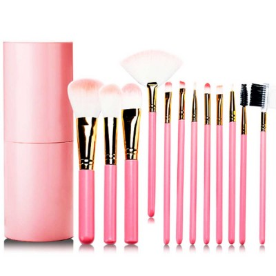 Practical Makeup Brush Set With Brush Barrels, 12 PCS Eye Makeup Brushes Set For Women