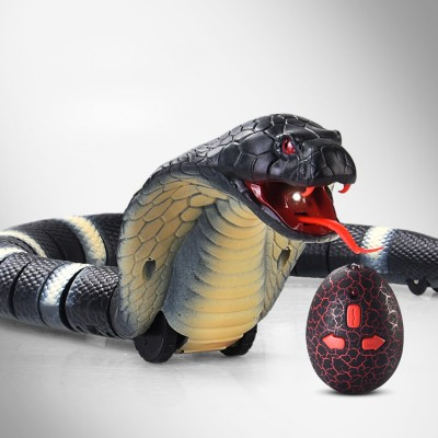 Remote control electric snakes from toys, Imitation cobra with flexible Joints, Shake sound with a Parody Toy