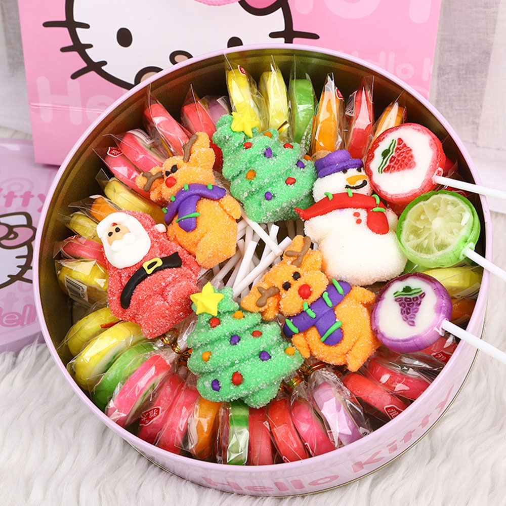Fancy Easter Candy Gift Box  for Kids, Cotton Candy Marshmallow Lollipop Chocolate