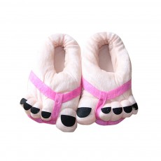 Warm Slipper Feet Shape April Fool's Day Gift for Boy Girl, Plush Material Comfortable Slipper Winter
