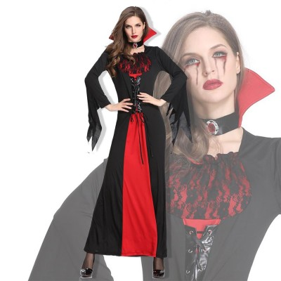 Vampire Costume, Queen Dress for Halloween Easter Christmas, Halloween Costume for Women Adult Cosplay Dress Role Playing Costume