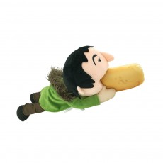 Toy People Eating Hot-dog Shape Popular Style Plush Gift Soft Pillow, League of Legends Products for April Fool's Day Gift