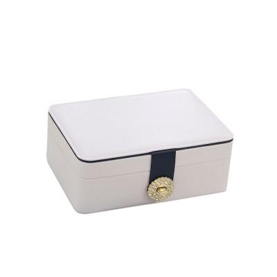 European Style Jewelry Storage Box of Double-layer Design, Simple Jewelry Storage Box for Earrings Ear Studs