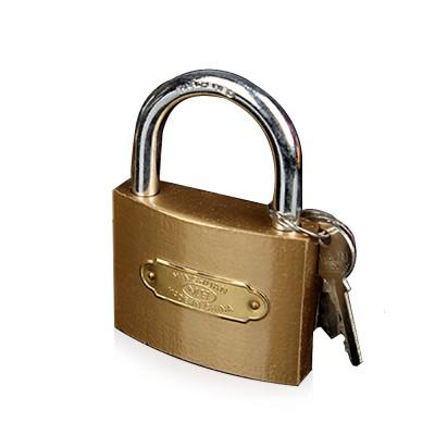 Common Ring Imitation Copper Padlock, 1.2inch Custom Open Power Meter Box Lock Imitation Copper Padlock