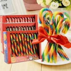Candy Cane Gift Box for Easter Day, Rainbow Color Lollipop Creative Present Cane Candy, Multiple Taste