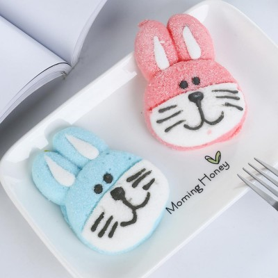 Rabbit Shape Marshmallow for Girlfriend as Birthday Gift, Creative Rabbit Cotton Candy A Pair as Present Rabbit Candy Floss