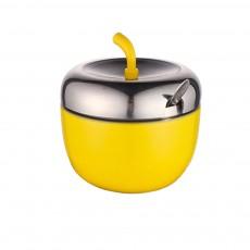 Stainless-steel Apple Shape Seasoning Jar, Paint Creative Seasoning Tank with Stainless Steel Spoon