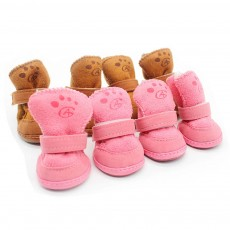 Cute Lamp Dress Up Puppy Shoes Apparel Pet Boots, Autumn and Winter Snow Warm Pet Boots with Magic Tape