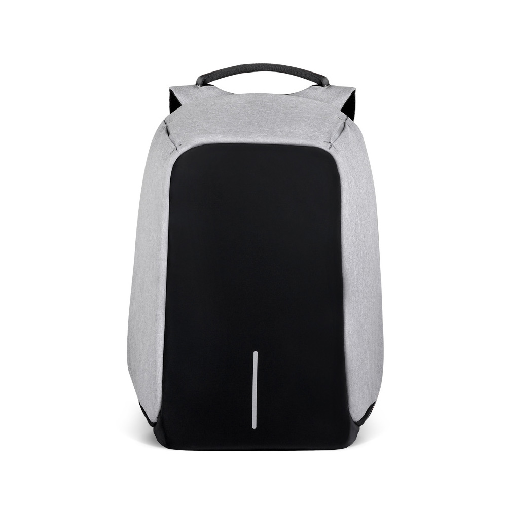 Business Waterproof Scratch-proof Oxford Cloth Casual Man Backpack, Anti-theft Shoulder Bag with USB Charging