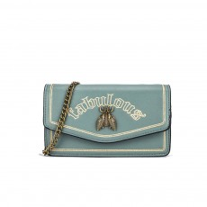 Vintage Embroidery Small Women Bag with Metal Bee Decoration, Ladies Shoulder Bag Clutch Handbag with Metal Chain
