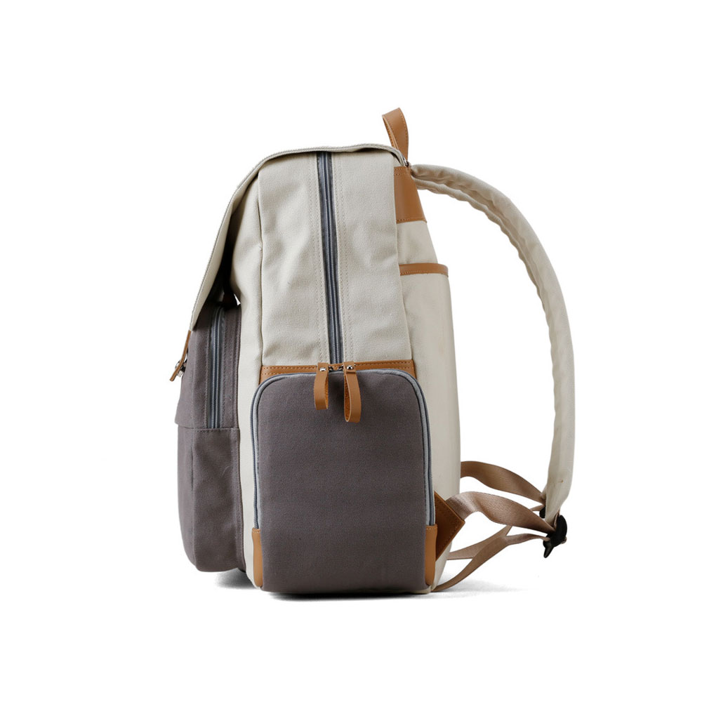Multifunctional Tactical Pouch Cotton Canvas Backpack, Minimalist Casual Travelling Bag Laptop Bag, Large Capacity
