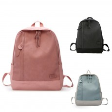 Fashion Contrast Colors Canvas Casual Backpack, Large Capacity Laptop Bag Travelling Backpack with Functional Front Pocket