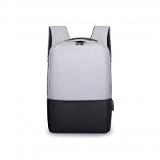 Minimalist Oxford Cloth Casual Student Backpack, Humanized Waterproof Shoulder Bag Travel Bag Laptop Bag with USB Charging