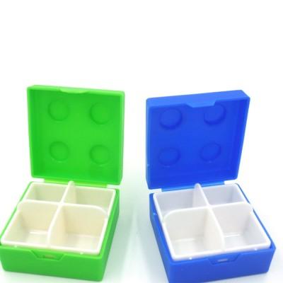 Colorful Building Blocks Pill Case, Mini Accessories Storage Box Cute Tablet Pill Medicine Organizer Container
