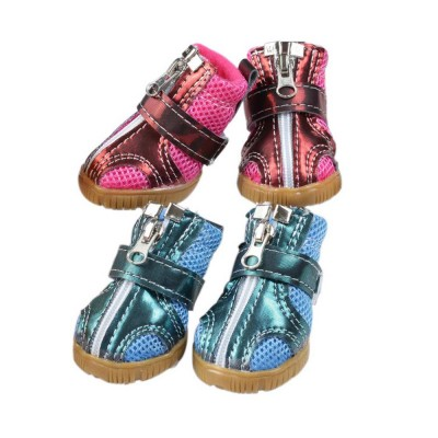 Fashion Nets Villus Dog Shoes Pet Boots for Small Dogs, Breathable Pet Boots with Durable Gum Outsole