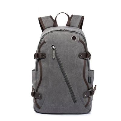 Fashion Vintage Canvas Men Laptop Backpack Messenger Shoulder Bag, Large Capacity Travel Bag Computer Notebook School Bag
