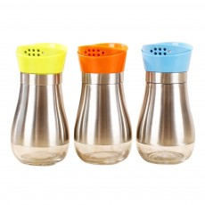 Stainless-steel Sauce Bottle for Putting Pepper, Salt, Chicken Essence, Double-Opening Seasoning Glass Bottle