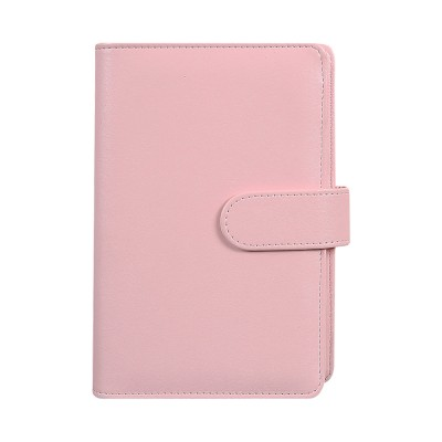 Multifunctional Loose-leaf Magnetic Buckle Notebook, A5/A6 Diary Jotter with Built-in Card Bag