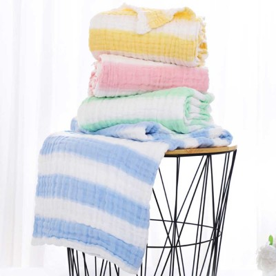 Gauze Cotton Baby Bath Towel, Soft Smooth Baby Blanket Infants Sleeping Wrap Blanket for Summer