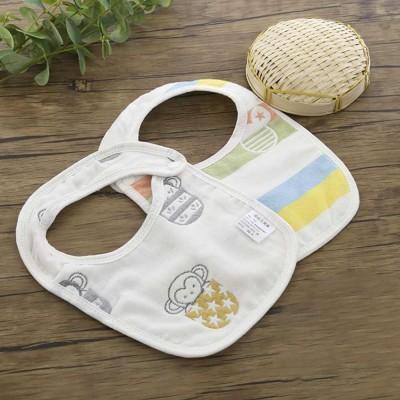 Cartoon Gauze Cotton Baby Bibs, Newborn Baby Infant Toddler Cartoon Towel, U Type Dribble Feeding Birds