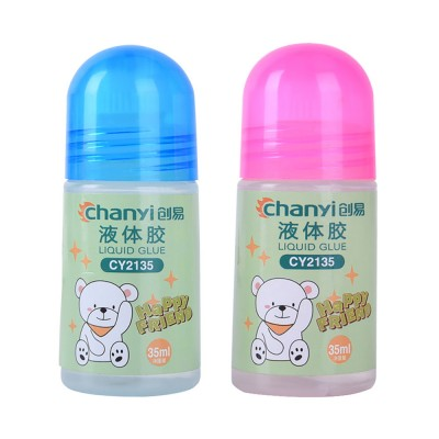 Environmental PVA Washable Transparent Viscose Liquid Glue Water, 35ml Children's Cute Office Supplies